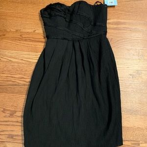 Suzi Chin black strapless formal dress